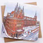 St Pancras Snowfall Greeting Card by Jonathan Chapman