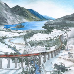 Glenfinnan Viaduct Original Painting by Jonathan Chapman