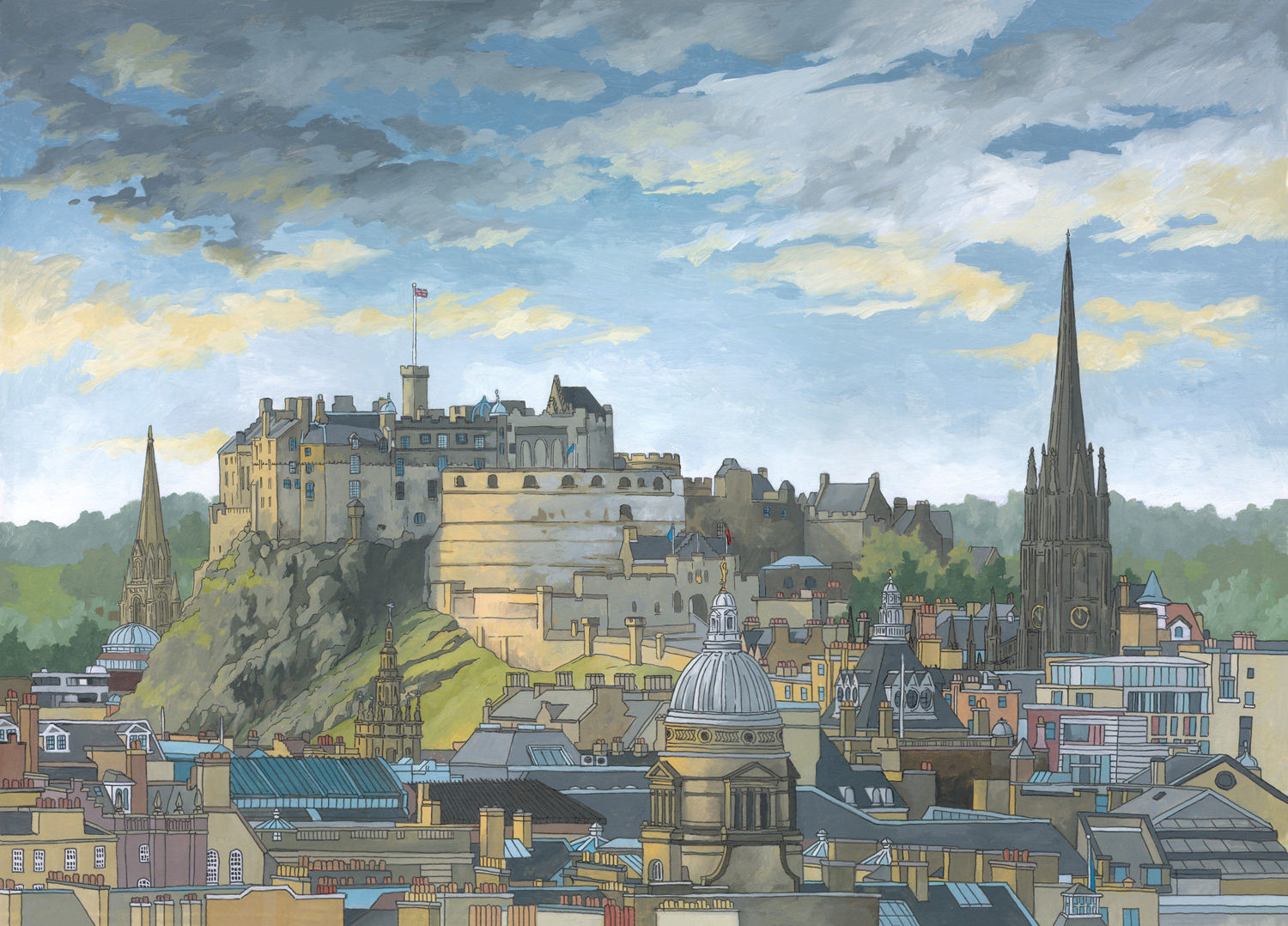Edinburgh Castle by illustrator Jonathan Chapman