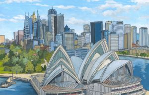 Sydney Opera House by Illustrator Jonathan Chapman