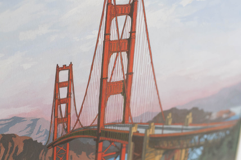 The Golden Gate Bridge San Francisco Orginal Pianting by Jonathan Chapman
