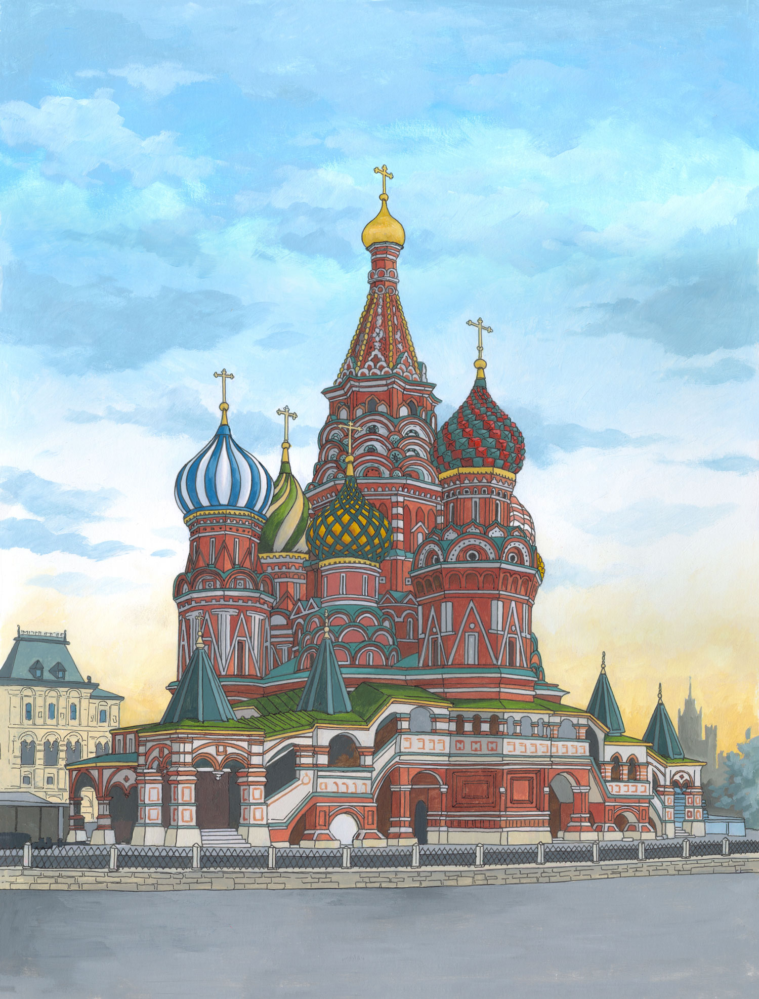 St Basil's Cathedral, Moscow by Jonathan Chapman
