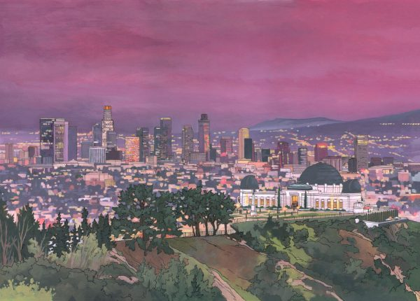 Griffith Observatory, Los Angeles Illustration by Jonathan Chapman