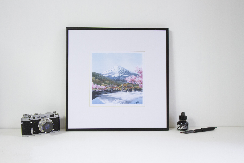 Mount Fuji Japan limited edition print by Jonathan Chapman