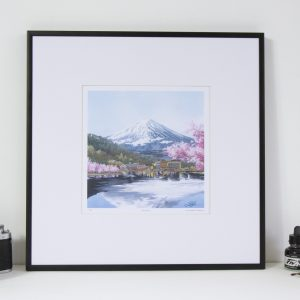 Mount Fuji limited edition print by Jonathan Chapman