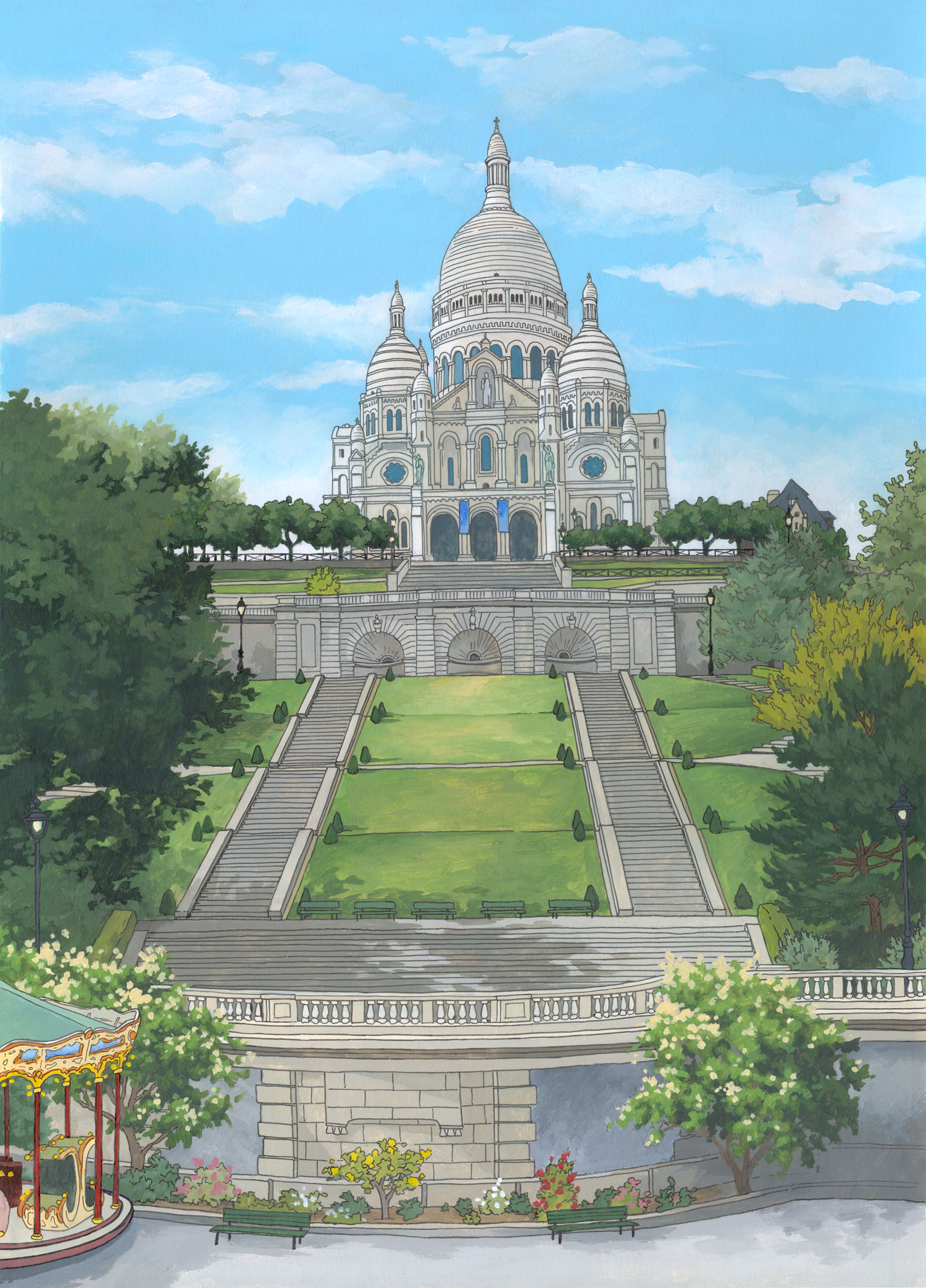 Sacre Coeur, Paris by Jonathan Chapman