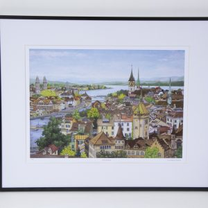 Zurich Rooftops limited edition print by Jonathan Chapman