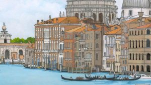 Grand Canal Venice Illustration by Jonathan Chapman