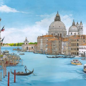 The Grand Canal Venice Illustration by Jonathan Chapman