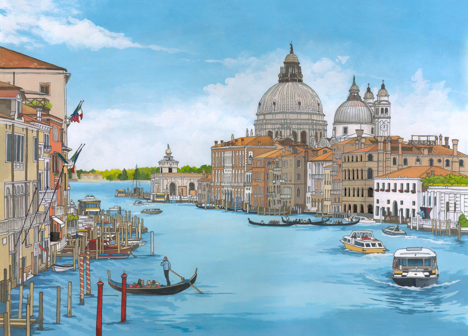 Grand Canal Venice Illustration by Jonathan Chapman