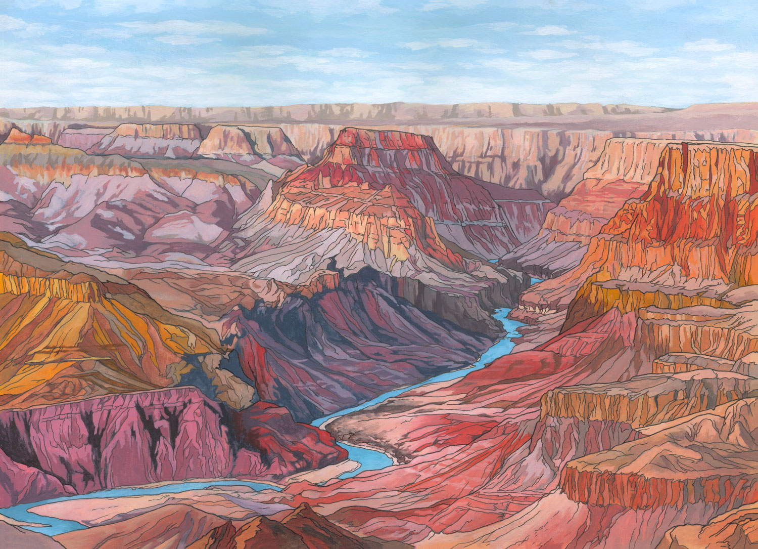 Grand-Canyon-Illustration-by-Jonathan-Chapman