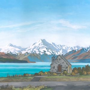 Lake Tekapo New Zealand Illustration by Jonathan Chapman