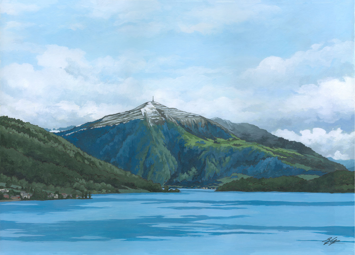 Rigi Blues Illustration By Jonathan Chapman