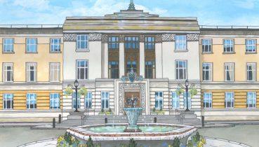 Wandsworth Town Hall Illustration by Jonathan