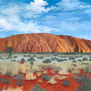 Uluru / Ayers Rock Australia - Illustration by Jonathan Chapman