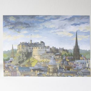 Edinburgh Castle Greeting Card - Illustration by Jonathan Chapman