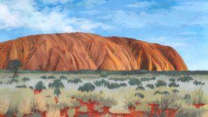 Uluru / Ayers Rock - Illustration by Jonathan Chapman