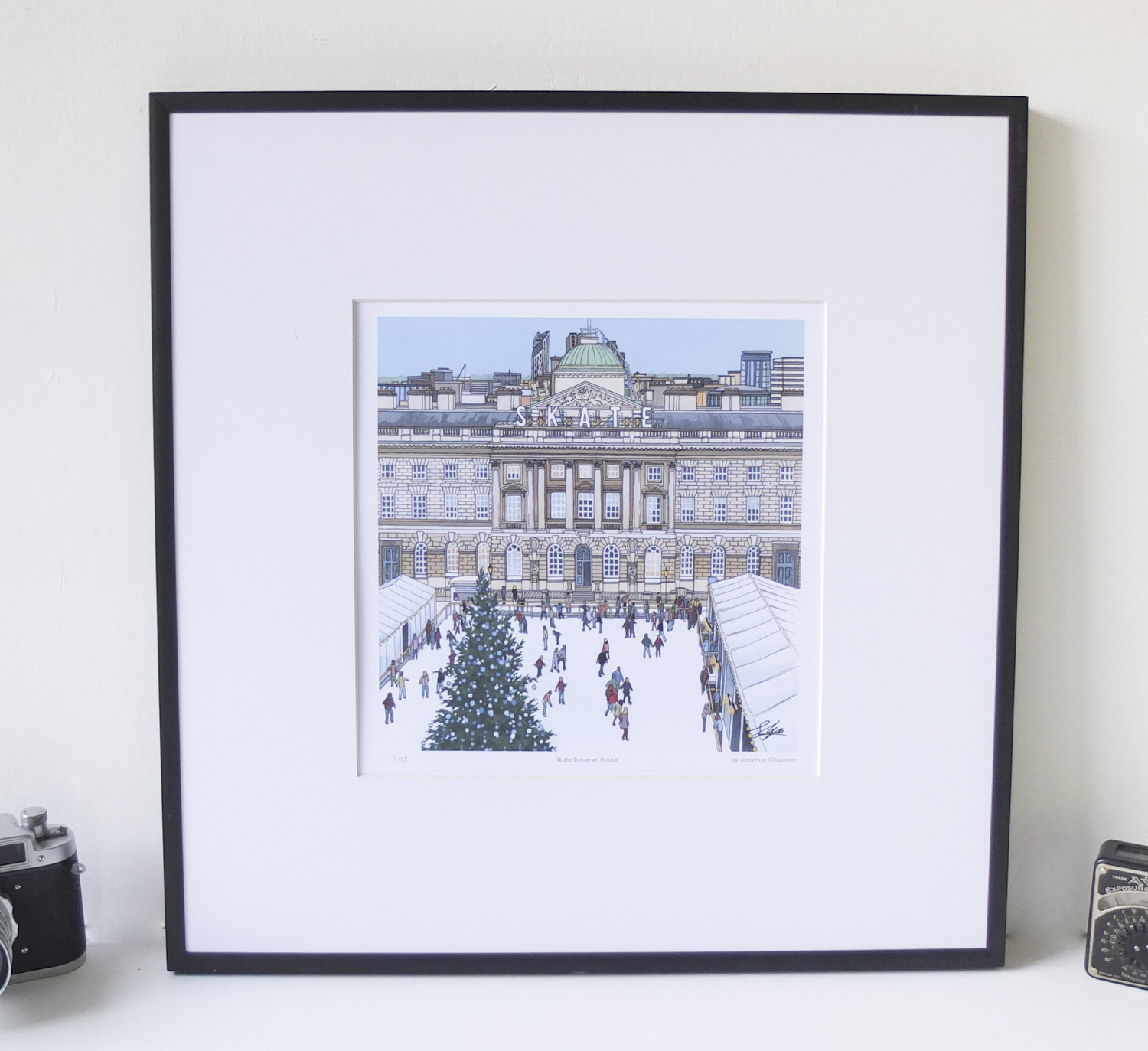 Skate Somerset House Limited Edition Print – Illustration by Jonathan Chapman-2
