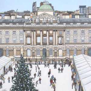 Skate Somerset House - Illustration by Jonathan Chapman