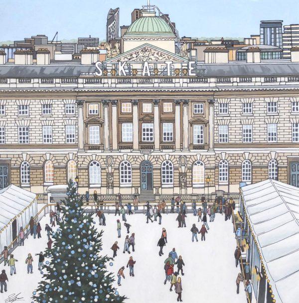 Skate Somerset House - Illustration by Jonathan Chapman