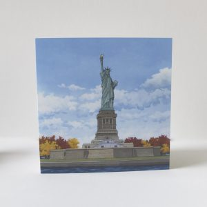 Statue of Liberty Greeting Card - Illustration by Jonathan Chapman