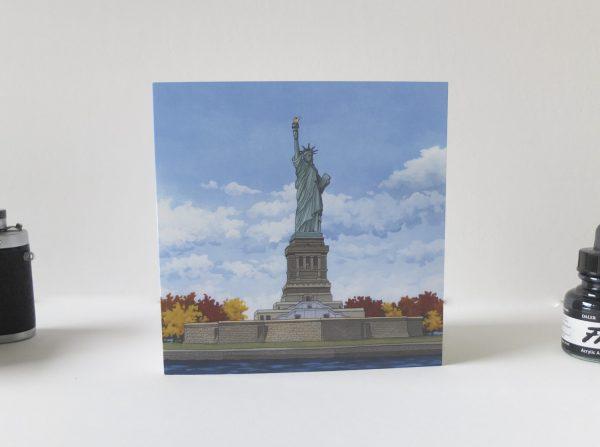 Statue of Liberty Greeting Card - Illustration by Jonathan Chapman