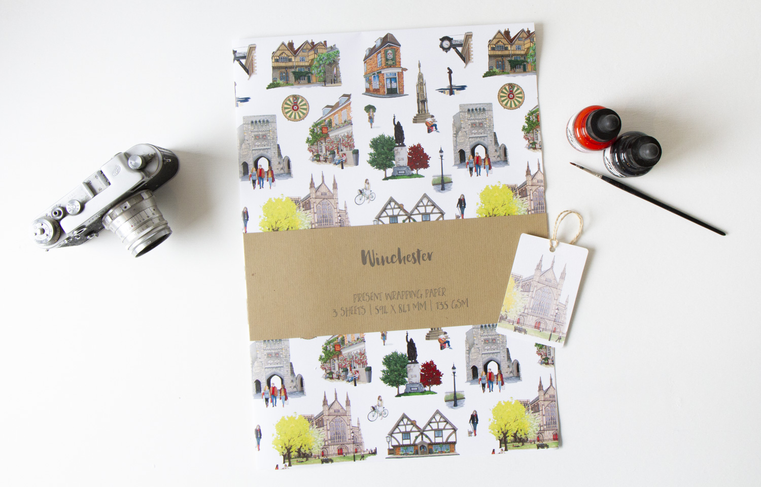 Winchester Wrapping Paper – Illustration by Jonathan Chapman-5