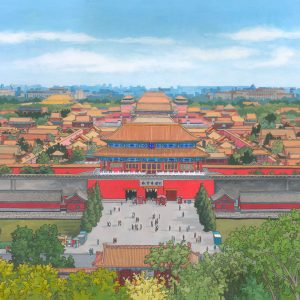 The Forbidden City Beijing - Illustration by Jonathan Chapman