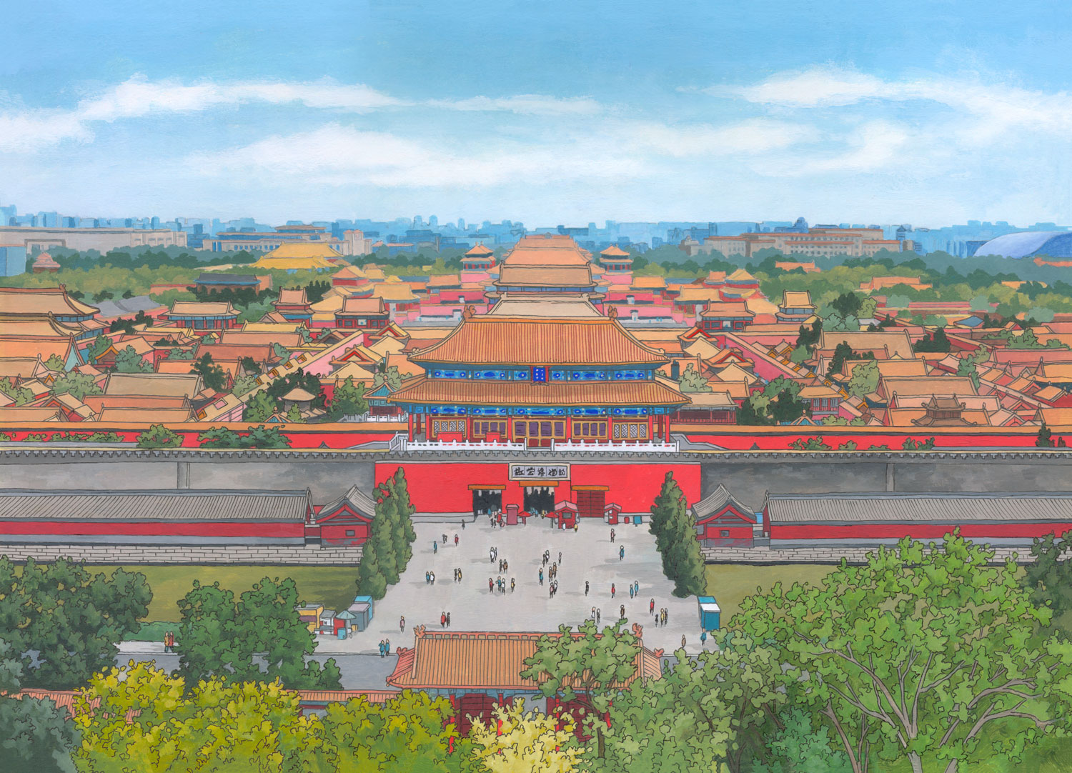 Forbidden-City-Beijing-Illustration-by-Jonathan-Chapman