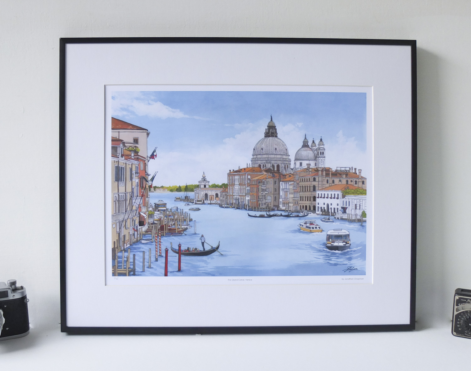 Grand Canal Venice Limited Edition Print – Illustration by Jonathan Chapman-2