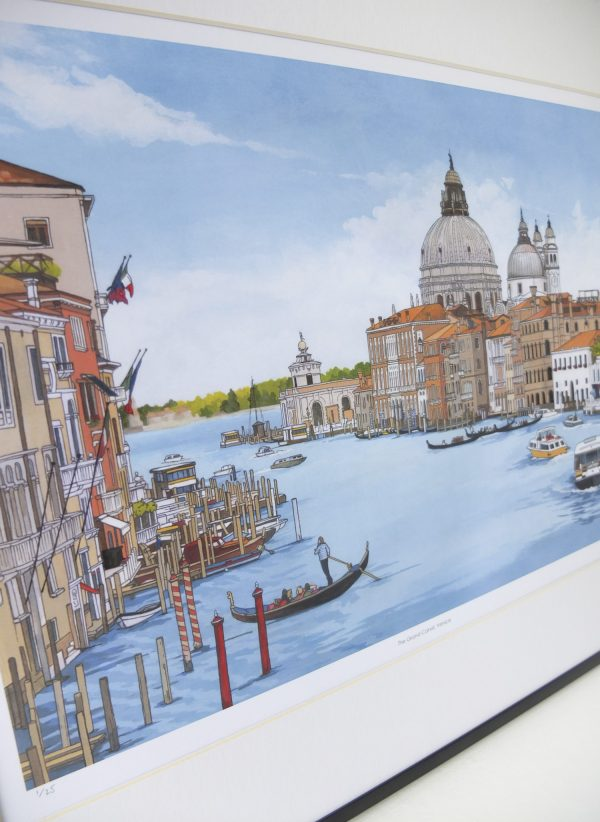 Grand Canal Venice Limited Edition Print - Illustration by Jonathan Chapman