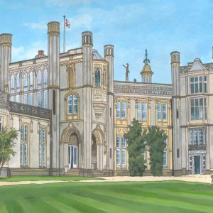 Highcliffe Castle - Illustration by Jonathan Chapman