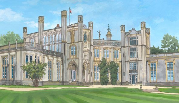 Highcliffe Castle - Illustration by Jonathan Chapman
