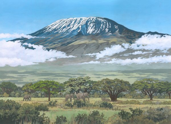 Kilimanjaro Tanzania - Illustration by Jonathan Chapman