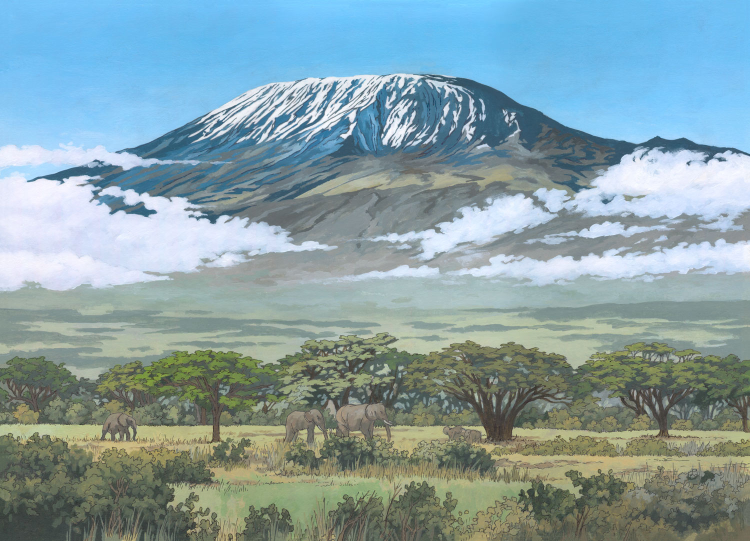 Kilimanjaro-Tanzania-Illustration-by-Jonathan-Chapman