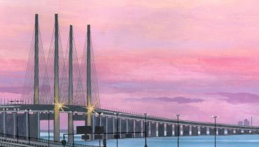 Oresund Bridge - Illustration by Jonathan Chapman