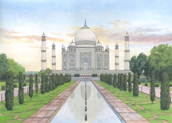 Taj Mahal - Illustration by Jonathan Chapman