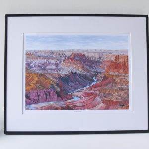 The Grand Canyon Limited Edition Print - Illustration by Jonathan Chapman
