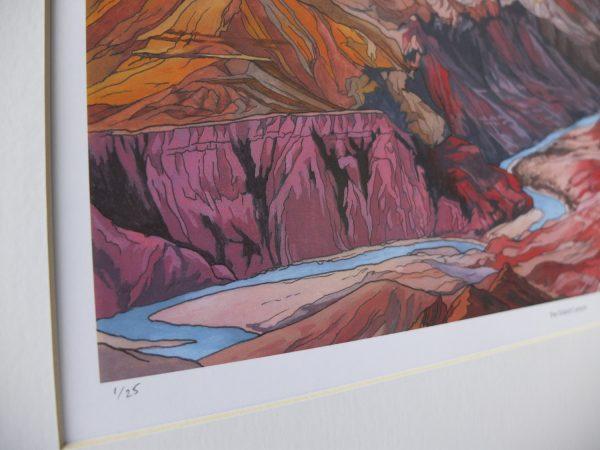 The Grand Canyon Limited Edition Print - Illustration by Jonathan Chapman