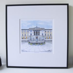 Wandsworth Town Hall Limited Edition Print - Illustration by Jonathan Chapman