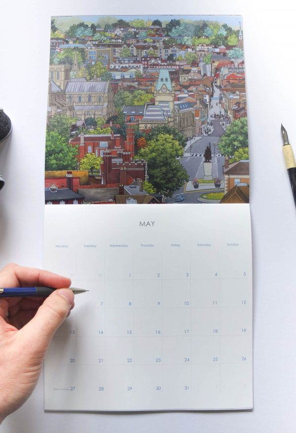 Winchester Calendar 2019 - Illustration by Jonathan Chapman
