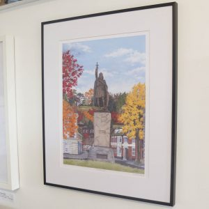 King Alfred in Autumn Limited Edition Print - Illustration by Jonathan Chapman