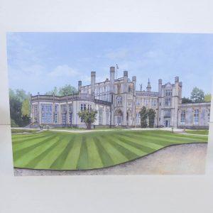 Highcliffe Castle Greeting Card - Illustration by Jonathan Chapman