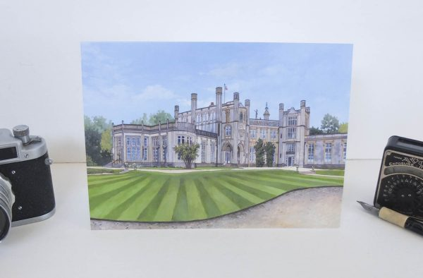 Highcliffe Castle Greeting Card - Illustration by Jonathan Chapman