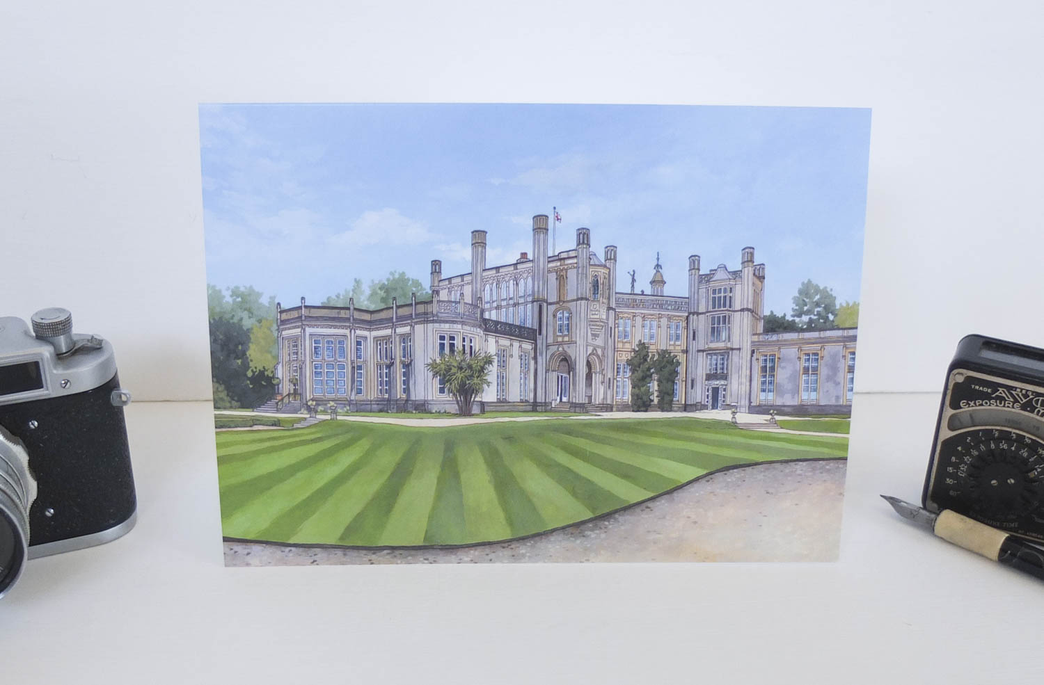 Highcliffe Castle Greeting Card – Illustration by Jonathan Chapman-2