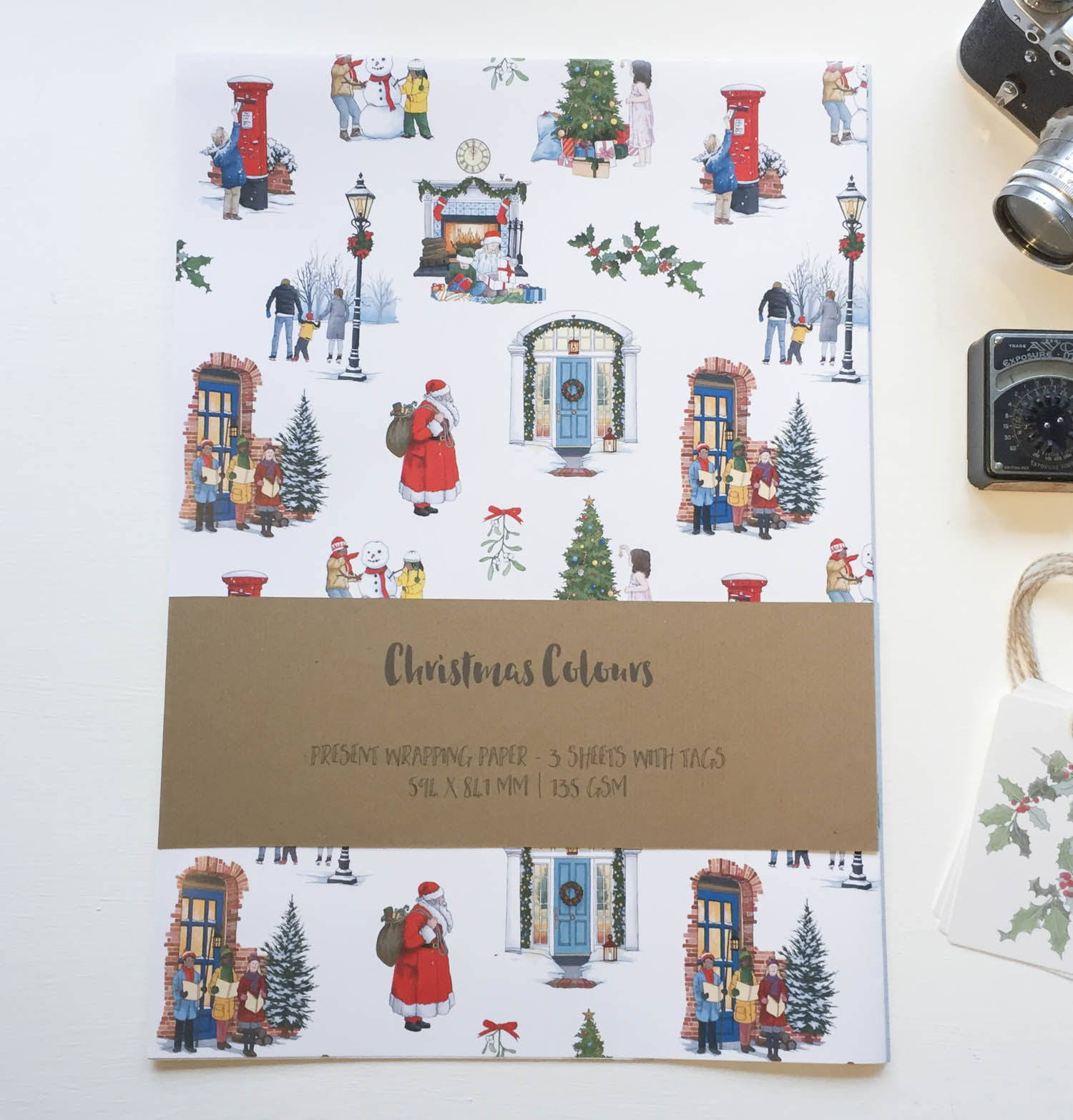 Christmas Wrapping Paper Illustration By Jonathan Chapman Illustration By Jonathan Chapman
