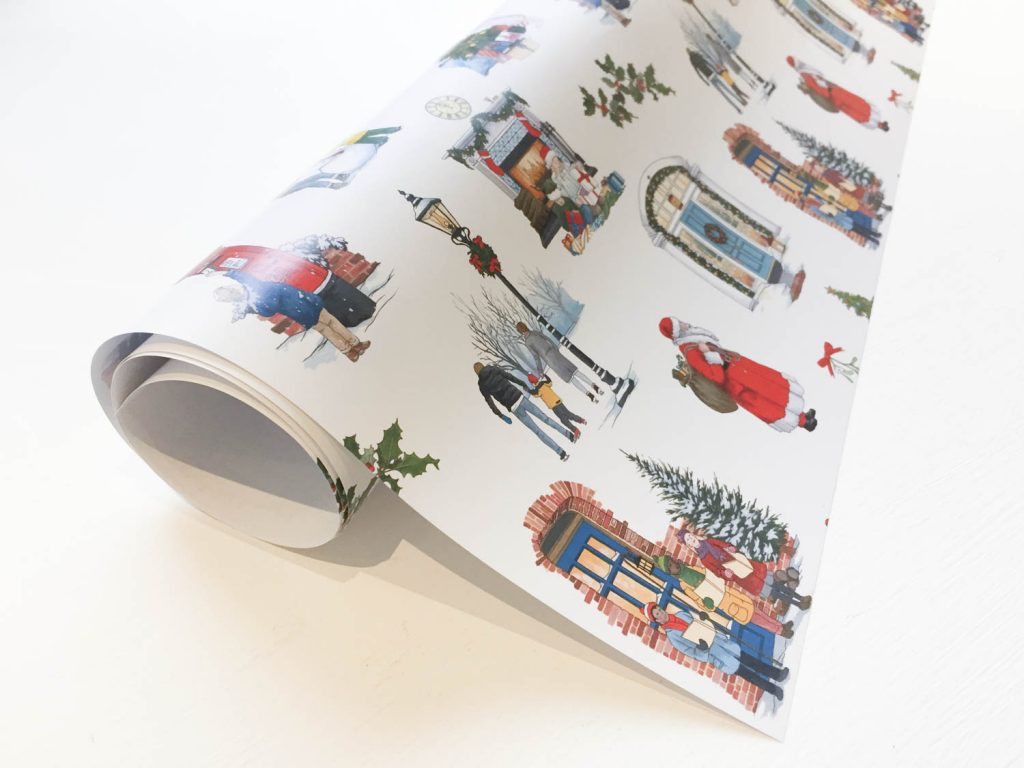 Christmas Wrapping Paper - Illustration by Jonathan Chapman-2