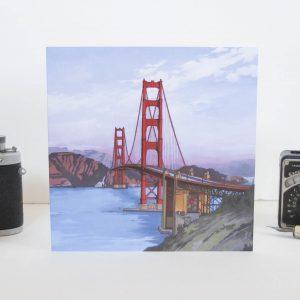 Golden Gate Bridge Greeting Card - Illustration by Jonathan Chapman