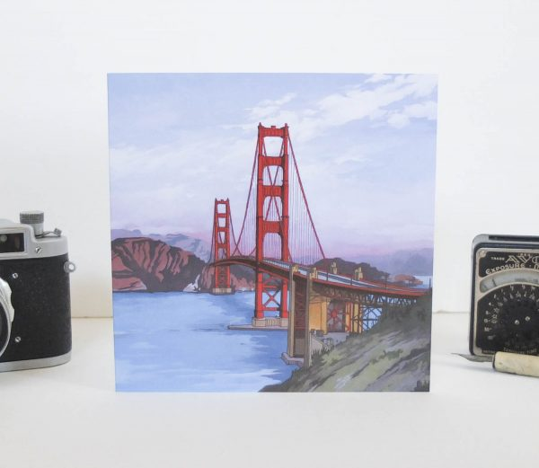 Golden Gate Bridge Greeting Card - Illustration by Jonathan Chapman