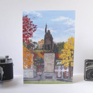 King Alfred in Autumn Greeting Card - Illustration by Jonathan Chapman